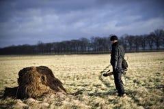 Фотограф на поле Стоковые Изображения