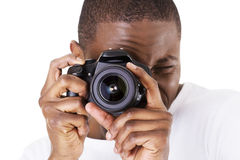 Фотограф на работе Стоковое фото RF