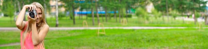 фотограф парка Стоковые Изображения