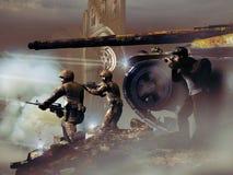 Фотограф прессы войны Стоковые Изображения RF