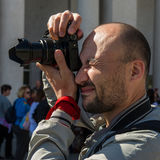 Фотограф принимает событие Стоковое Фото