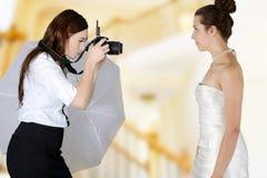 Фотограф свадьбы Стоковые Фотографии RF