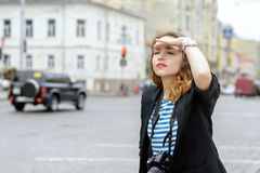 Фотограф с камерой Стоковые Фото