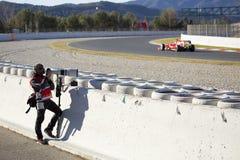 Фотограф Формула-1 Стоковое Изображение RF