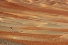 Фотограф дюны Стоковые Фото