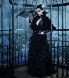 Фотомодель в платье фантазии Стоковые Фотографии RF