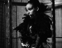 Фотомодель в платье фантазии Стоковое Изображение