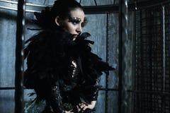 Фотомодель в платье фантазии Стоковое Изображение RF
