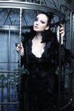 Фотомодель в платье фантазии Стоковая Фотография