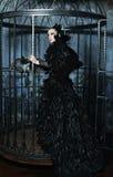 Фотомодель в платье фантазии Стоковое Фото