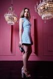 Фотомодель w дамы девушки женщины сексуальной красивой милой стороны белокурая Стоковое Фото
