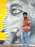 Фотосессия виска Khajrana стоковое изображение rf