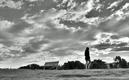 Фотоснимок пляжа Bondi черно-белый стоковое фото rf