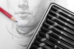 Учить делать эскиз к карандаша Стоковое фото RF