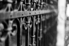 Фотоснимок старого стиля винтажной загородки сделанный из утюга с beautifu Стоковые Изображения