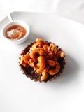 Десерт в кафе Стоковые Фото
