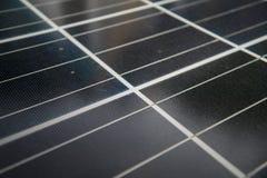 Фотоэлемент, солнце способное к возрождению электрической энергии voltaic панели фото солнечной энергии Стоковое Фото