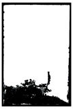 фото античной рамки grungy отрицательное Стоковые Фотографии RF