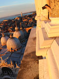 Фото базилики di Сан Marco от колокольни ` s St Mark в Венеции Стоковая Фотография