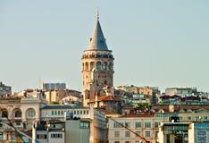 Фото башни Galata в Стамбуле Стоковые Изображения