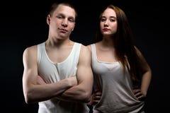 Фото белокурых мальчика и девушки Стоковое фото RF