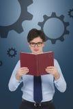 1 фото бизнесмена книги Стоковые Фотографии RF