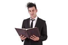 1 фото бизнесмена книги Стоковая Фотография