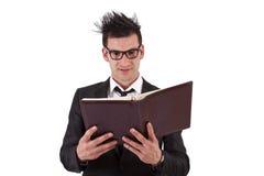 1 фото бизнесмена книги Стоковое фото RF