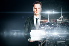1 фото бизнесмена книги Стоковые Изображения RF