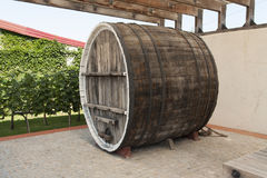 Фото бочонка дуба вина деревянное Стоковые Фотографии RF