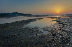 Фото было принято в Nai Пак во время захода солнца Стоковые Фото