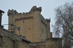 Фото верхнего замка Sajazarra зубчатых стен эффектно сохранило бортовую съемку Архитектура, искусство, история, перемещение стоковые изображения rf