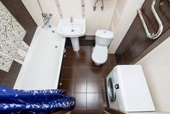Фото взгляда сверху bathroom стоковые фото