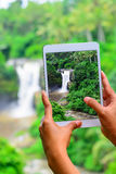 Фото водопада Стоковое Изображение RF