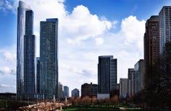Фото высоких зданий от южной петли в Чикаго Стоковая Фотография RF
