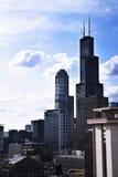 Фото высоких зданий от южной петли в Чикаго Стоковые Изображения RF
