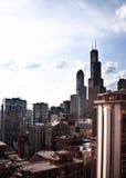 Фото высоких зданий от южной петли в Чикаго Стоковое Фото