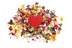 Влюбленность Confetti Стоковая Фотография