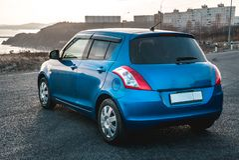 Фото голубого автомобиля стоковая фотография
