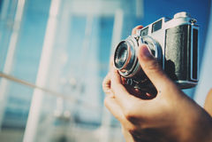 Фото городка лета камерой стоковое фото