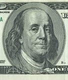 Фото денег 100 долларов с одним примечанием Стоковое Изображение RF