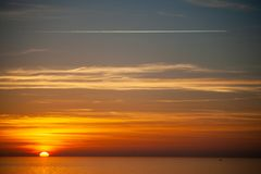 Фото драматического захода солнца Стоковое фото RF