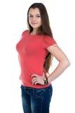 Фото девочка-подростка с руками на бедре Стоковые Фото