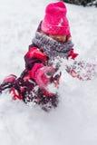 Фото девушки в зиме Стоковое Фото