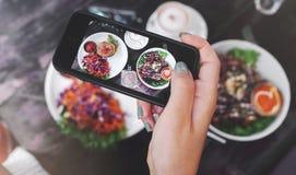 Фото еды здоровой еды Для социальных сетей Стоковое Изображение RF