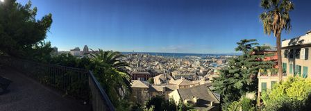 Фото лета обозревая Genova Италию Стоковое Изображение RF