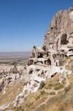 Фото замока Uchisar в Cappadocia Стоковое Изображение
