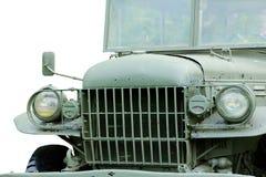 Фото запаса - военное транспортное средство на белой предпосылке Стоковое Изображение RF
