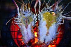 Фото запаса - зажаренная креветка на плите Стоковые Фотографии RF