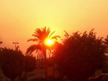 Фото захода солнца Стоковая Фотография RF